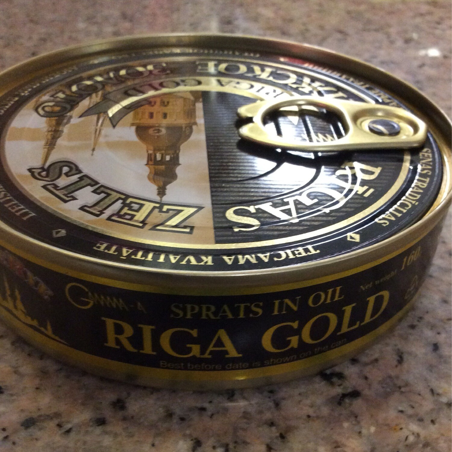 Riga Gold Smoked Sprats In Oil 160 gr Can W Opener