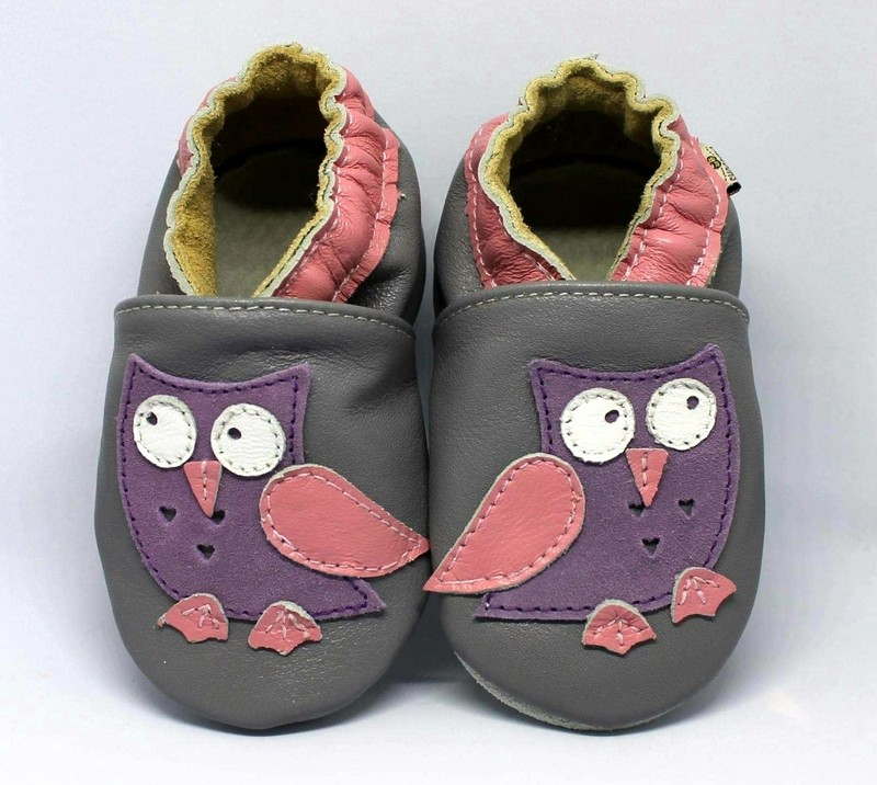 Owl Purple Grey Shoobees