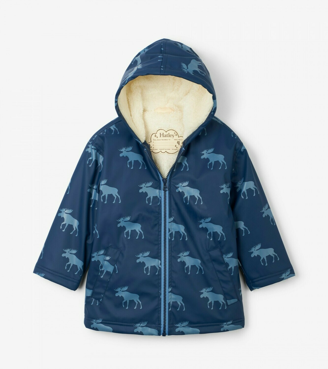 Hatley Moose Silhouettes Sherpa Lined Splash Jacket