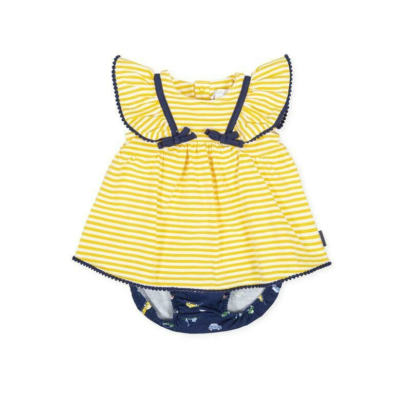 Tutto Piccolo Baby Girl Yellow Dress and Briefs