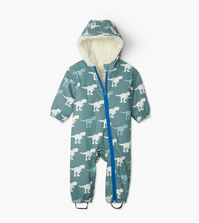 Hatley T-Rex Colour changing Baby Bundler Suit