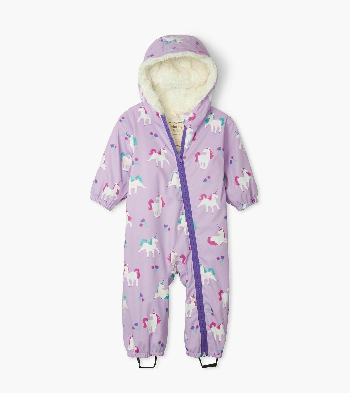 Hatley Playful Unicorns Colour Changing Baby Bundler Suit