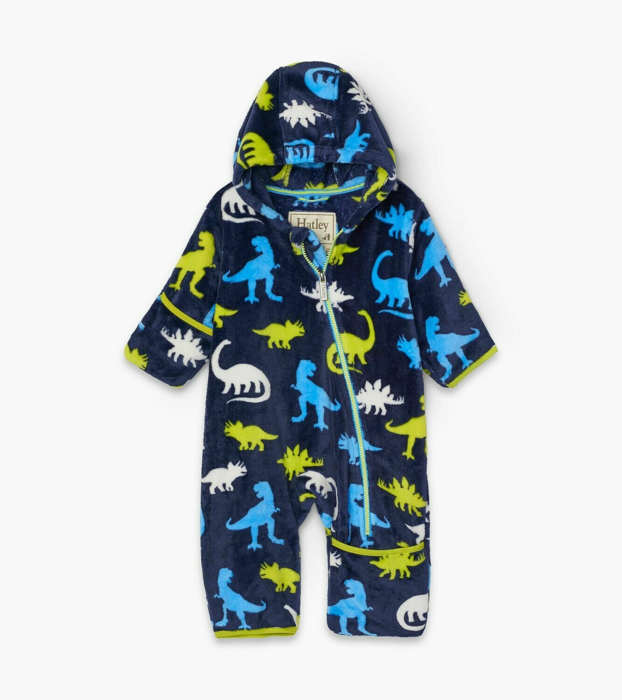Hatley Dinos Fuzzy Fleece Baby Bundler