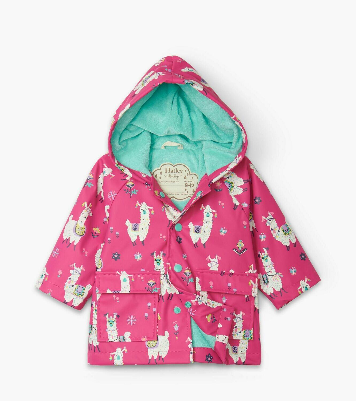 Hatley Girls Alpacas Baby RainCoat