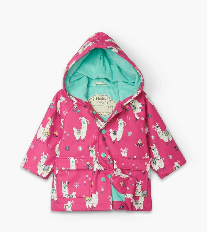 Hatley Girls Alpacas Girls RainCoat