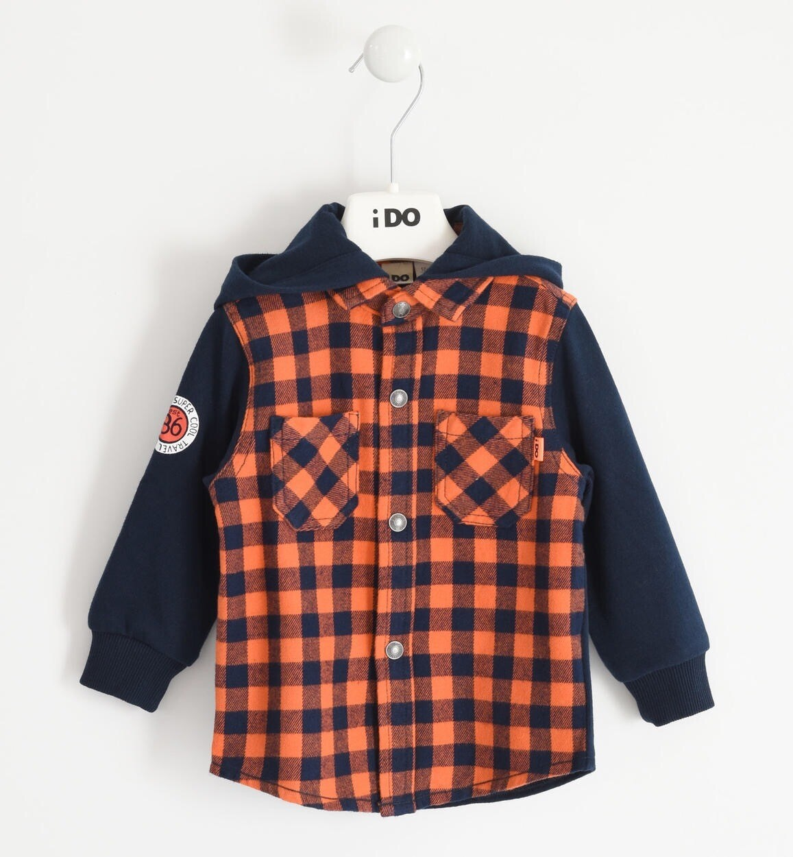 iDO Boys warm orange Hoodie Shirt For Boy