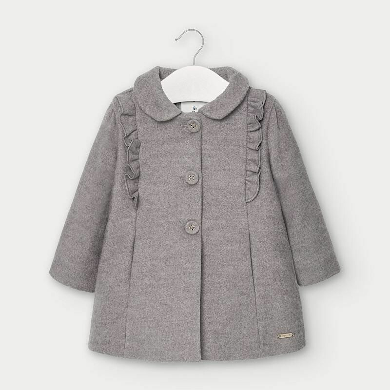 Mayoral Cloth Coat with Ruffles For Baby Girl