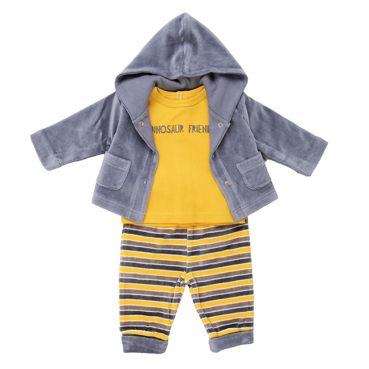 Babybol 3 Piece Boys Velour Outfit