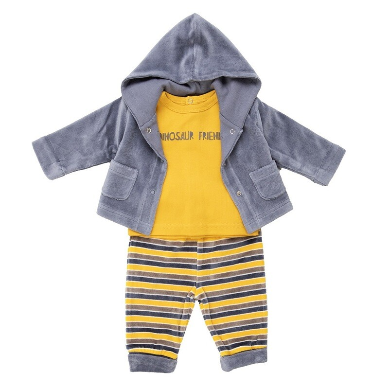 Babybol 3 Piece Boys Velour Outfit