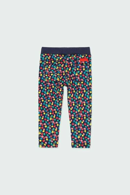 Boboli Fleece trousers polka dot for baby girl