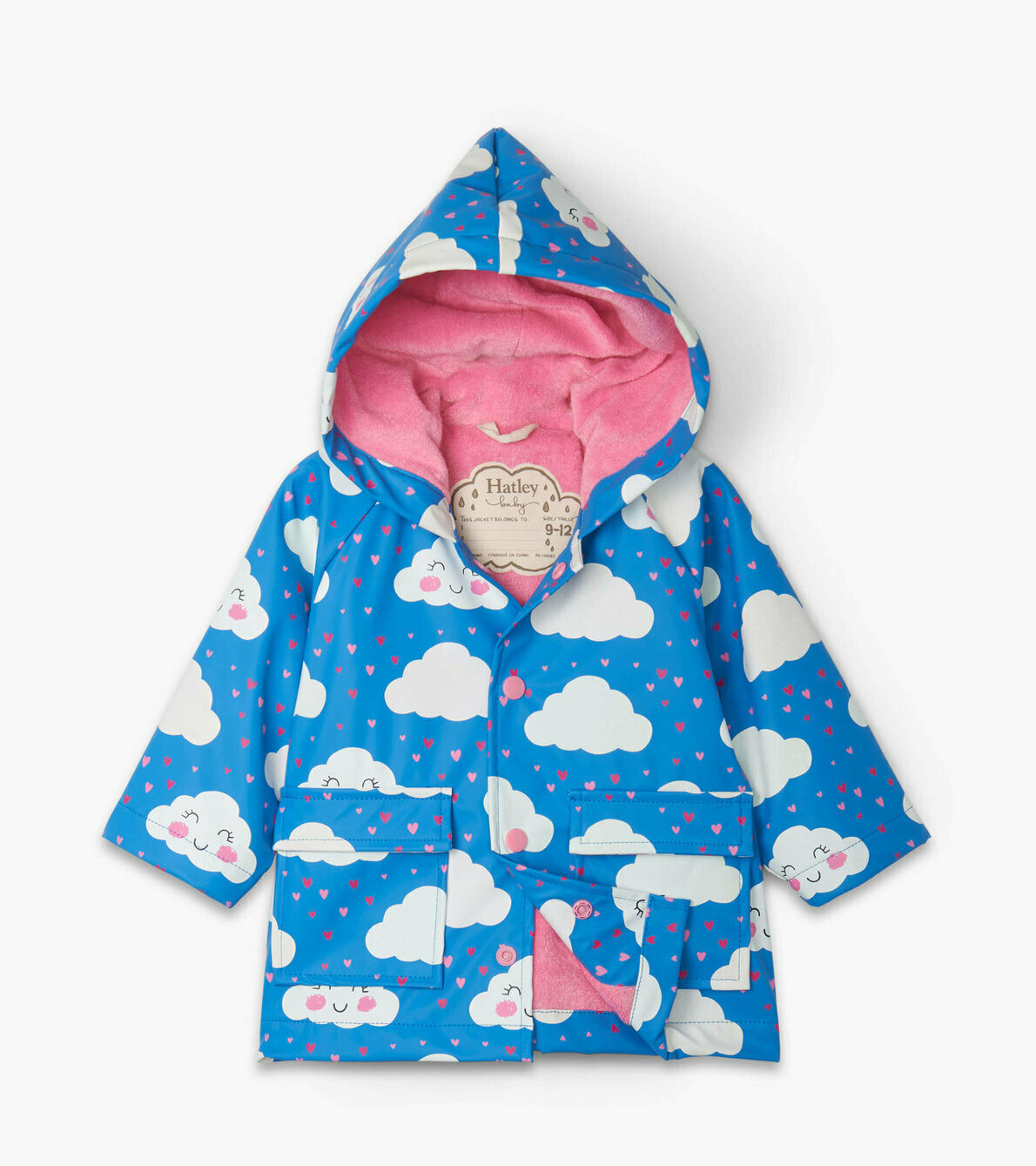 Hatley Cheerful Clouds Baby Colour Changeing Raincoat