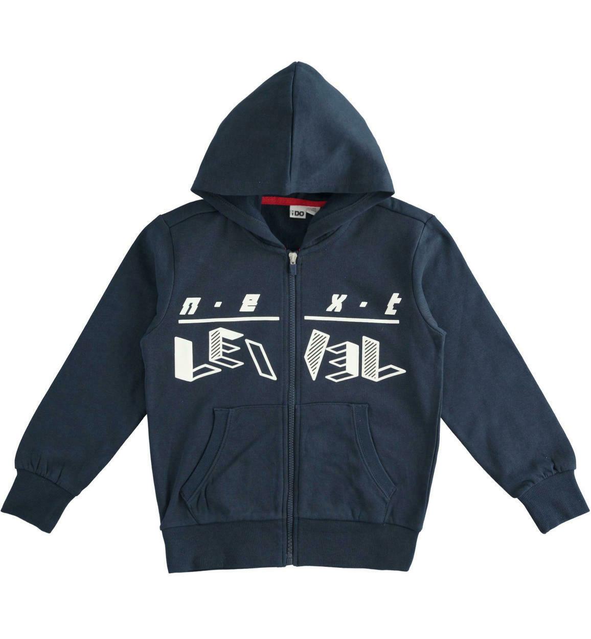 iDo Boys full zip Navy Hood sweatshirt