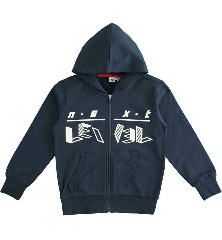 iDo Boys full zip Navy Hood sweatshirt