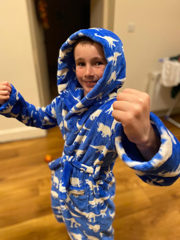 Hatley Roaming Dino Fleece Dressing Gown