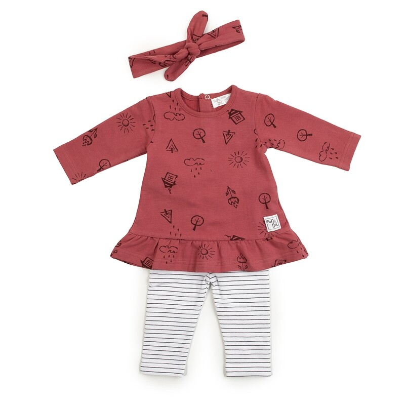 Babybol 3 piece Girls Suit with Hairband