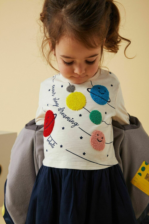 Boboli Combined Dress for Baby Girl