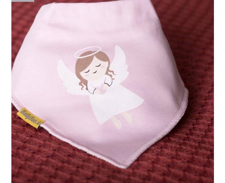 Babyboo Pink Aine Organic Cotton Bandana Bib