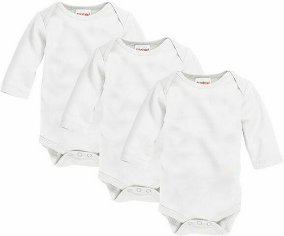Baby long sleeved white vest 3 pack