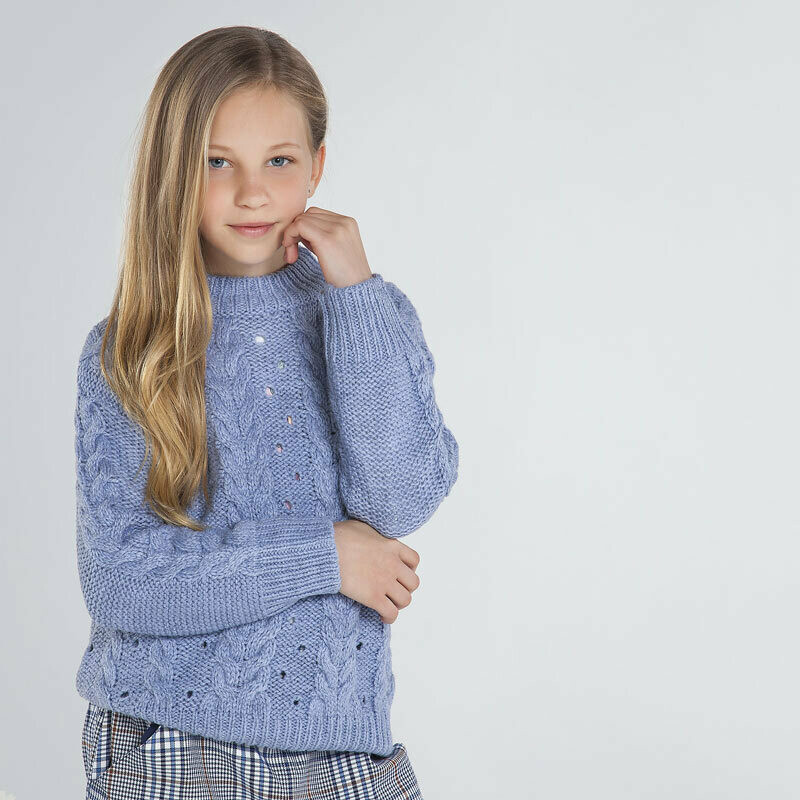 Mayoral Teen Girls Braided knit jumper for girl