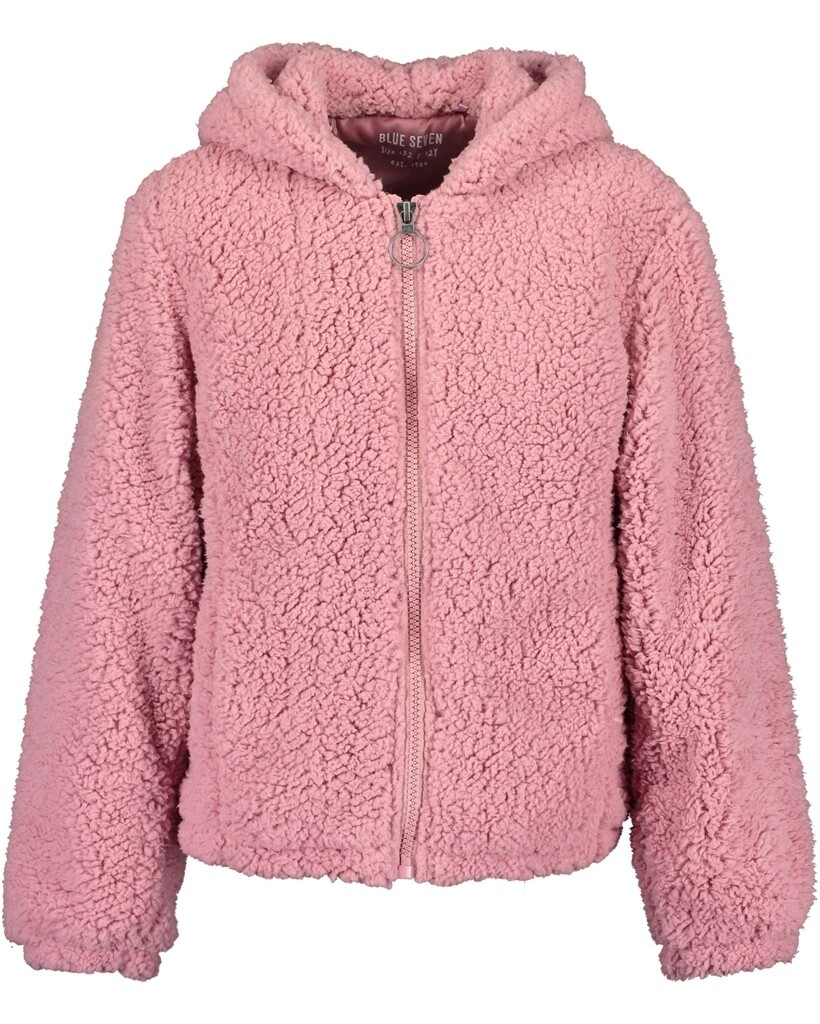 Blue Seven Teen Girls Pink Teddy Fleece with hood