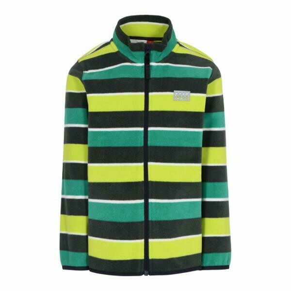 LEGO® Wear children's Green fleece jacket with a striped pattern