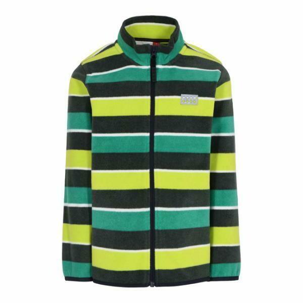 LEGO® Wear children's Green fleece jacket with a striped pattern