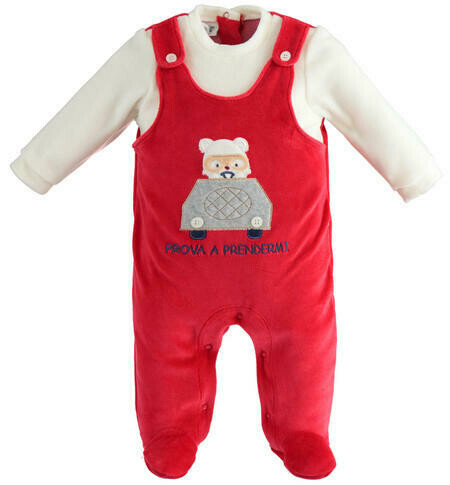 iDO Christmas Baby  romper with foot for newborn boy
