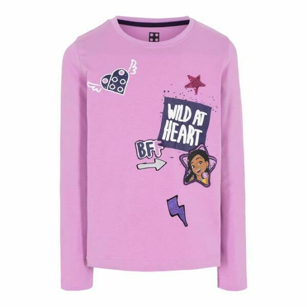 ​LEGO® Friends Long Sleeved Lilac Girls  T-shirt