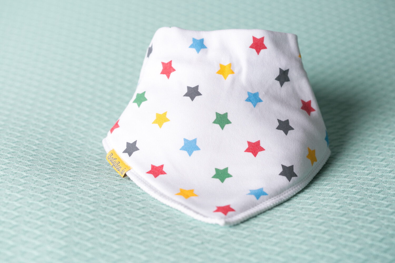 Babyboo BRIGHT STARS ORGANIC COTTON DRIBBLEBOO BANDANA BIB