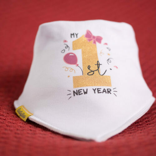 Babyboo HER FIRST NEW YEARS ORGANIC COTTON BANDANA BIB