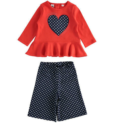 iDO polka dot Cullottes  Set  for Girls