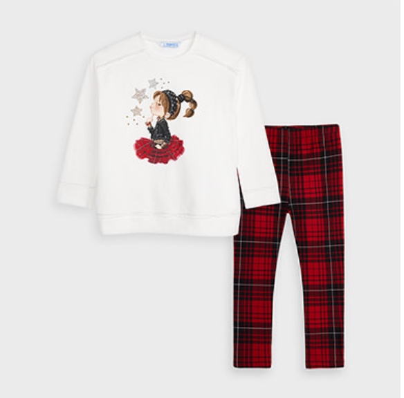 Mayoral Checked leggings set for girl