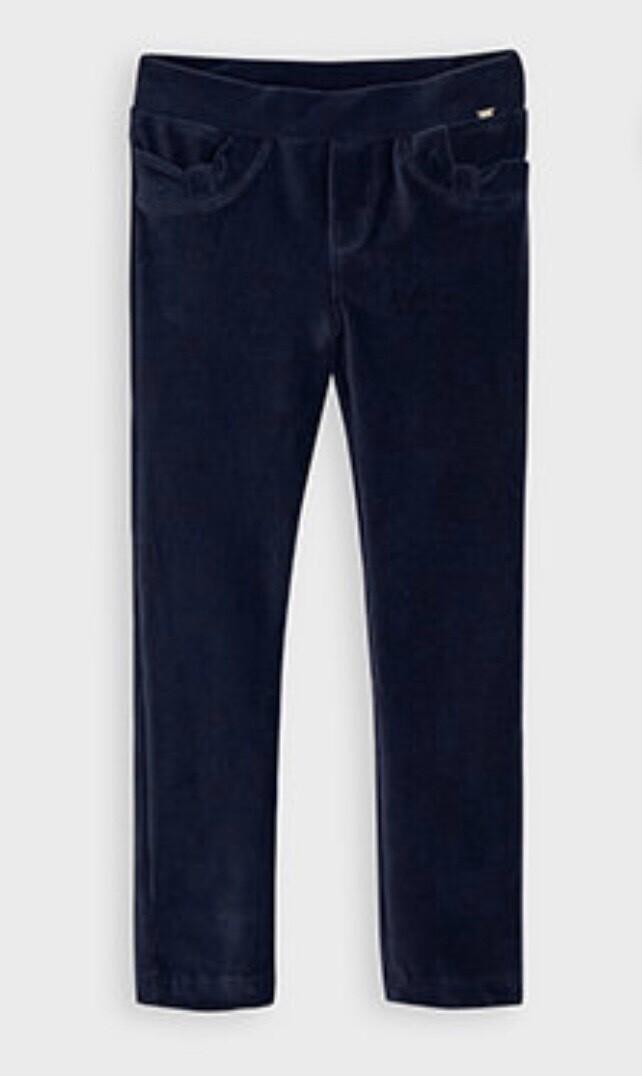 Mayoral Girls Basic Navy Corduroy Trouser leggings