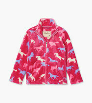Hatley Girls Horse Silhouettes Fuzzy Fleece