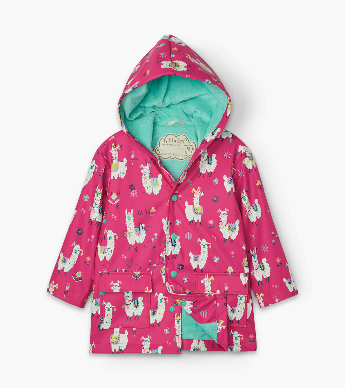 Hatley Girls AlpachasGirls RainCoat