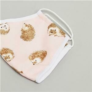 Face MASK Hedgehogs Pink