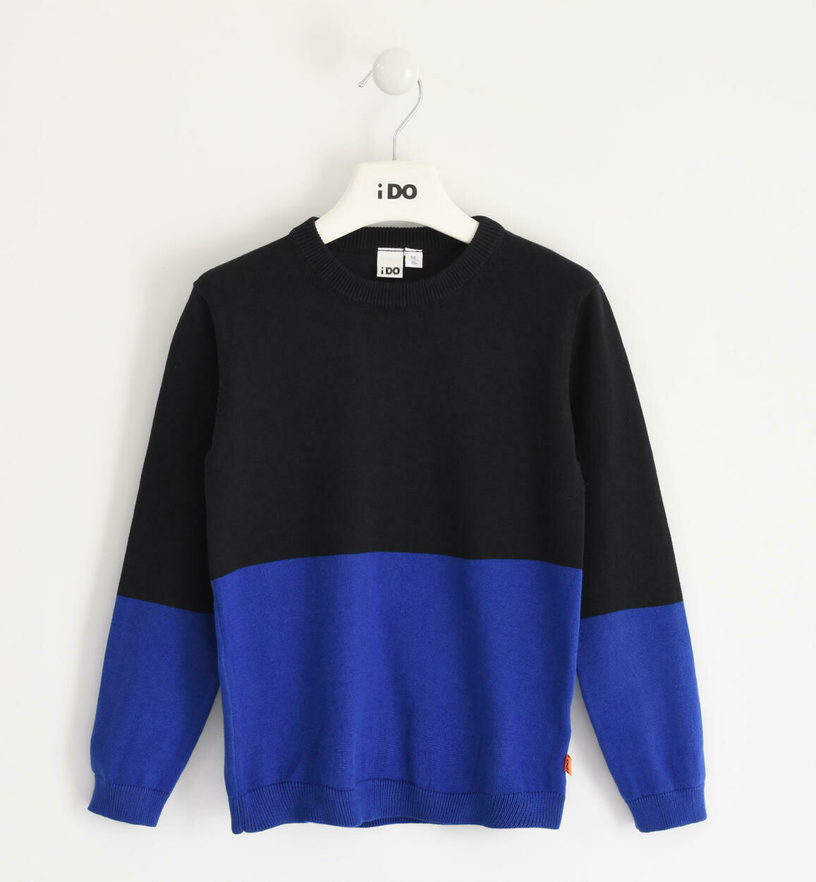 ido Teen Boys Two-Tone Crew Neck Sweater In Tricot