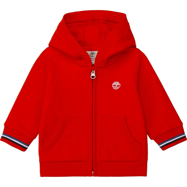 Timberland Boys Red Zipped Hoodie
