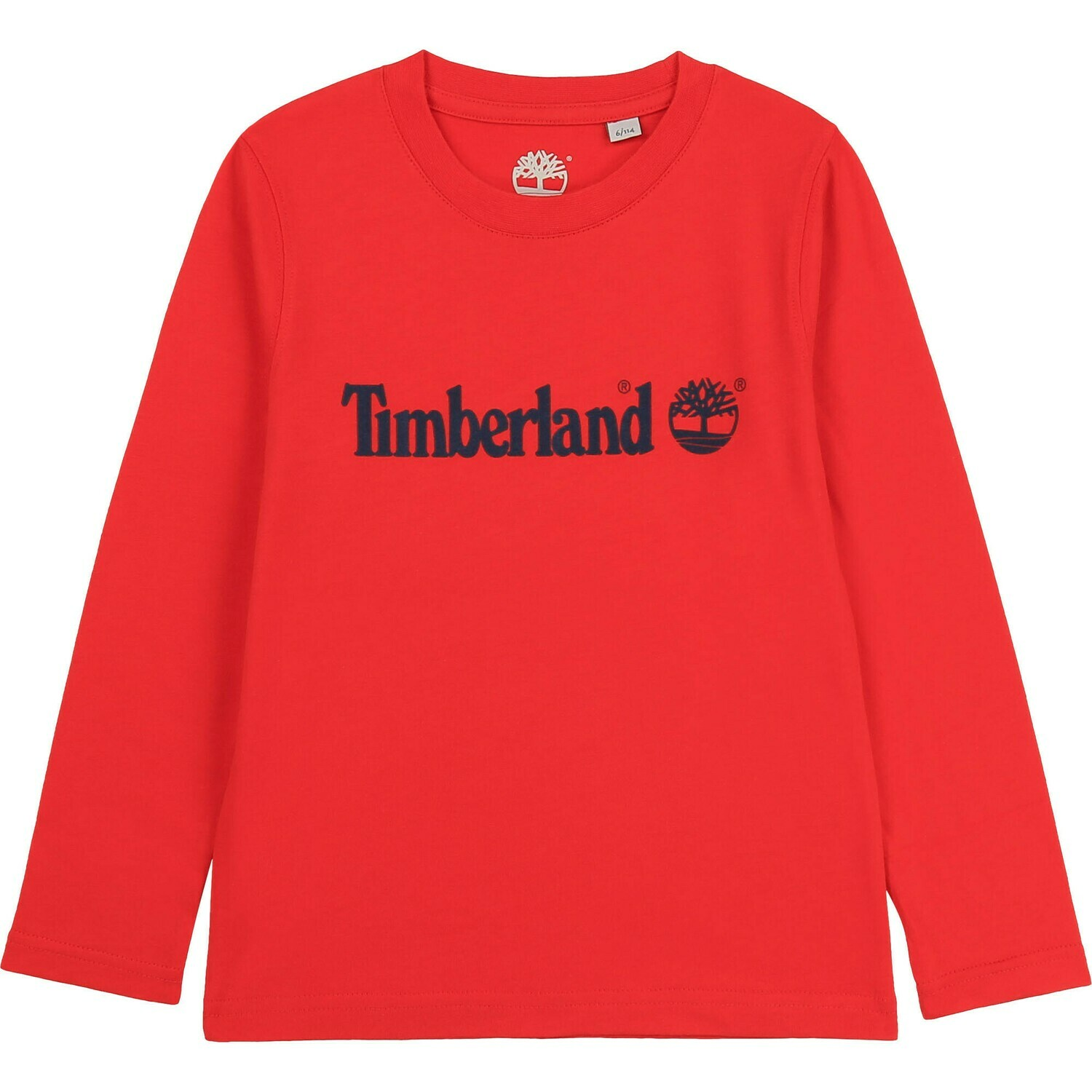Timberland Boys Red Long Sleeved Top with Logo