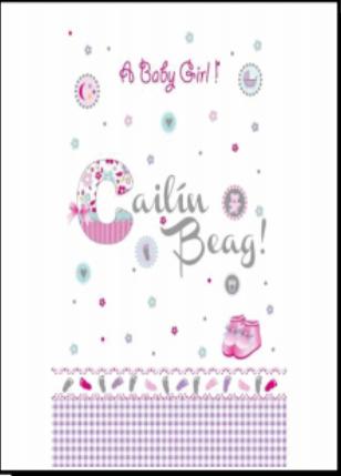 Baby Girl Card Cailin Beag
