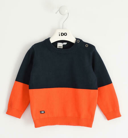 iDO BoysCrew neck tricot with colour blocks