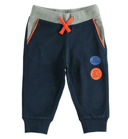 iDO Boys Heavy jersey trousers with prints