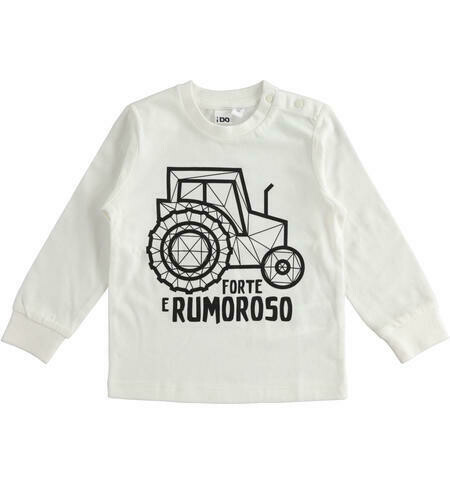 iDO Cream Tractor Witty graphics100% cotton crew neck