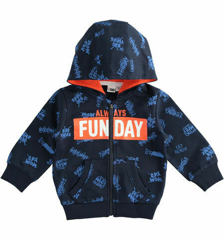 iDO Boys 100% cotton full zip sweatshirt