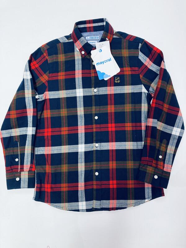 Mayoral Boys Check Shirt Red