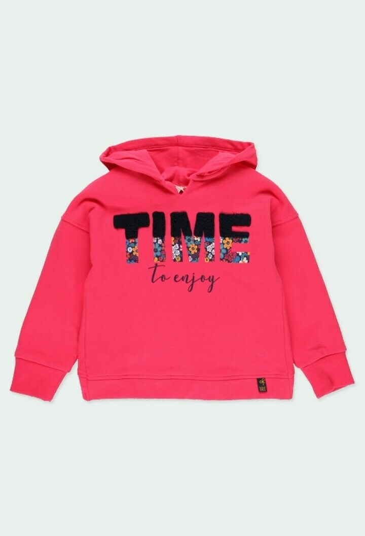 Boboli Girls Pink Hoodie Fleece sweatshirt