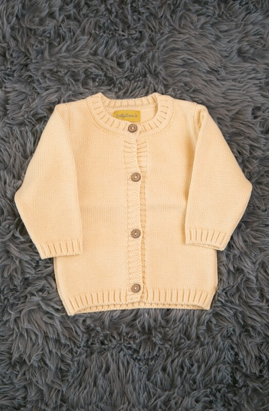 BabyBoo LEMON ORGANIC COTTON CARDIGAN