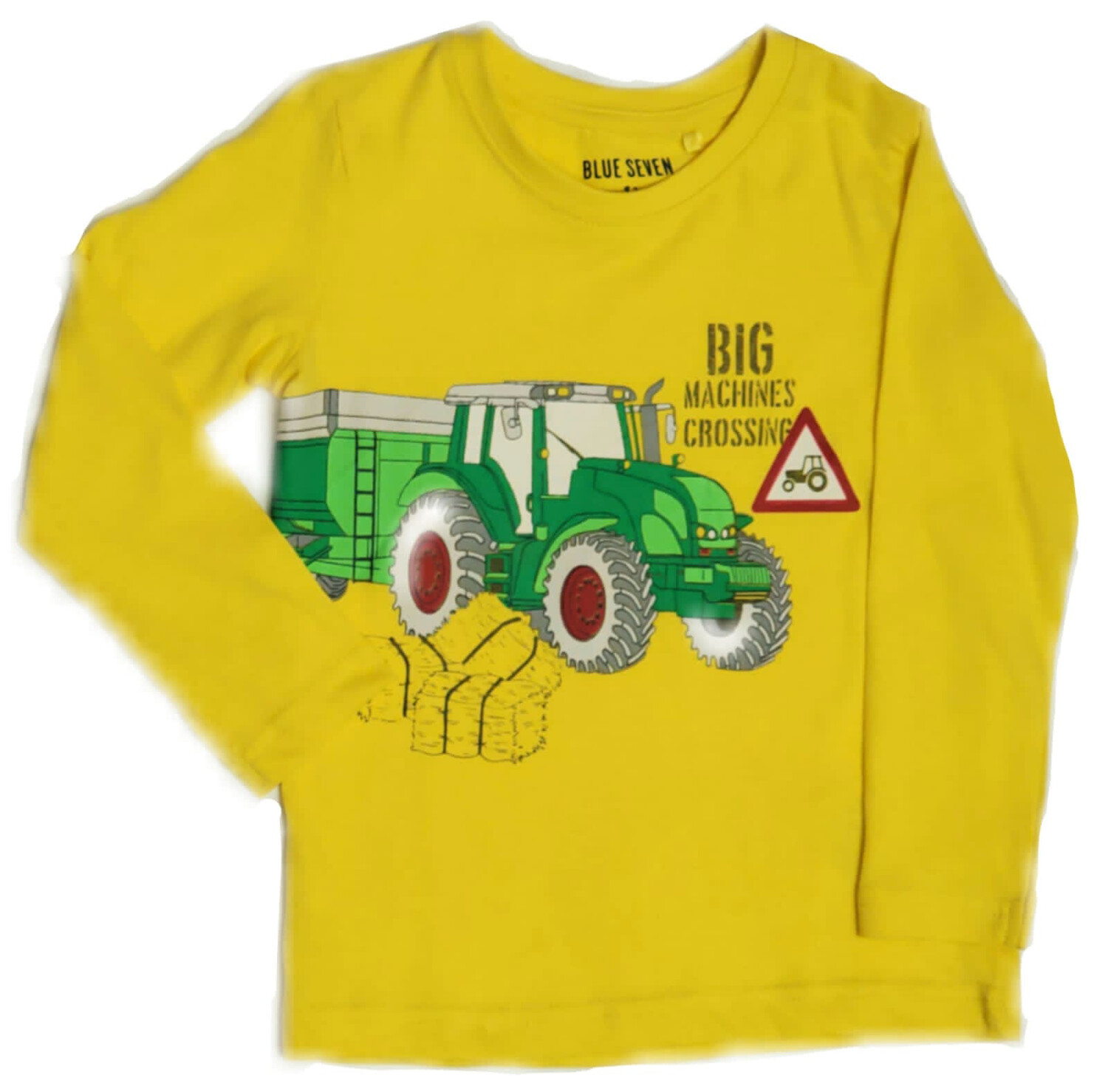 Blue Seven Boys Long sleeved Top Yellow