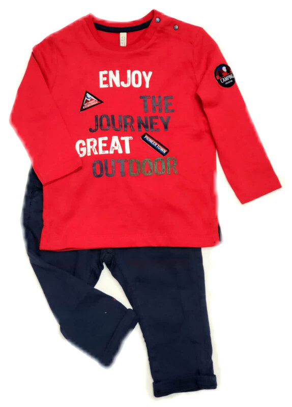 BIRBA Baby Boys 2 piece Trouser Set Red