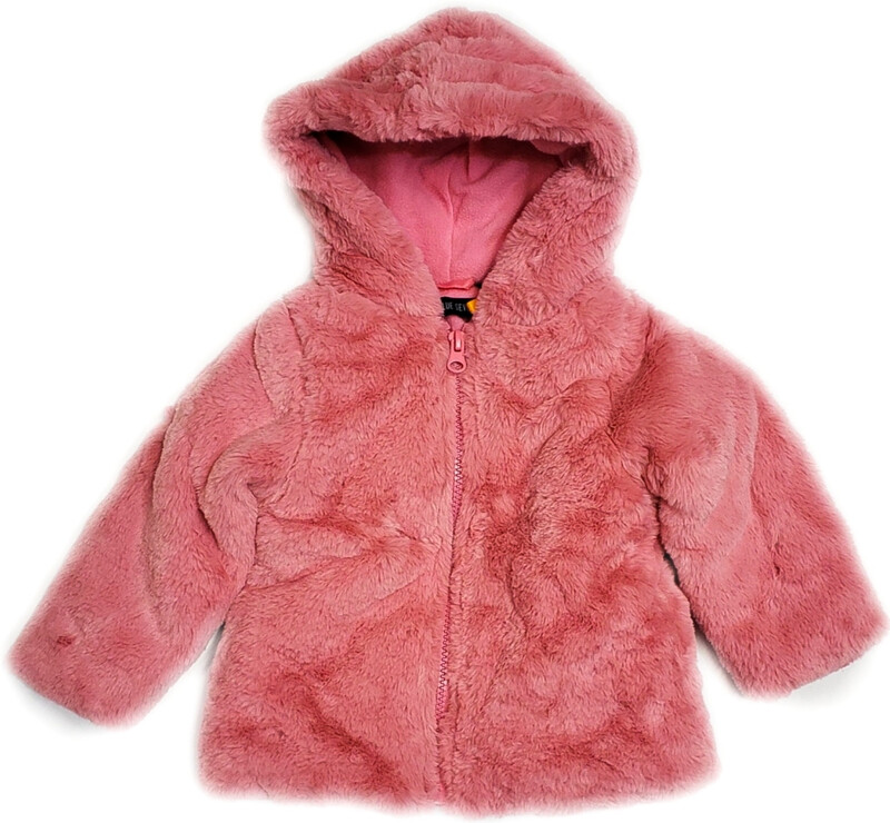 Blue Seven Baby Girl Soft Pink Fleece with Hood